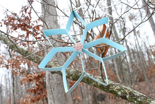 cookie cutter snowflake outside