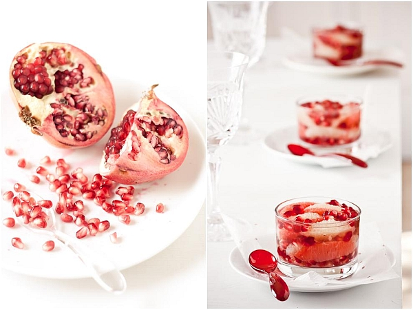 Grapefruit-Pomegranate White Tea Jelly