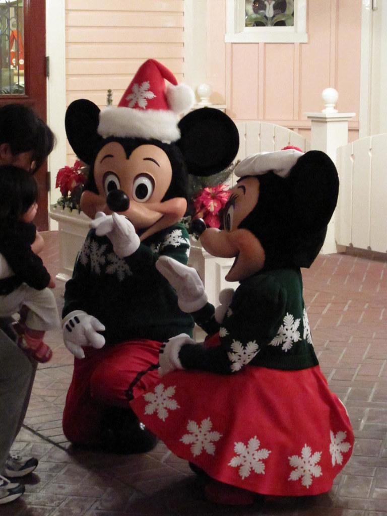 Holiday Mickey and Minnie