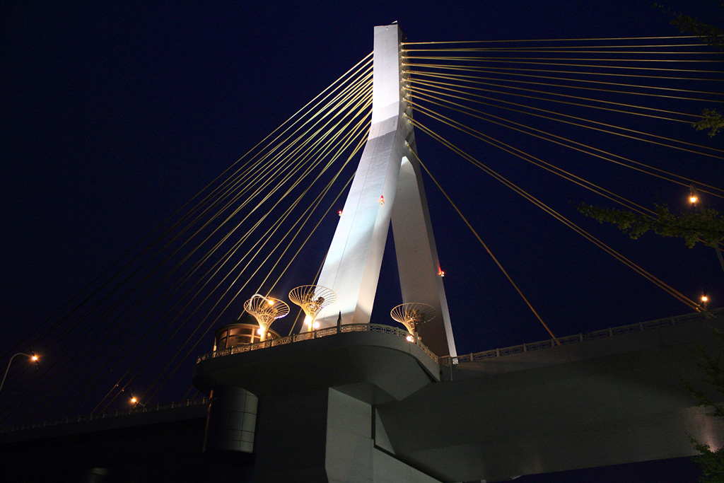 Aomori Bay Bridge in the night