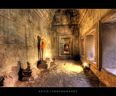 Buddha in Angkor Wat, Siem Reap, Cambodia :: HDR (Artie | Photography :: I'm a lazy boy :)) Tags: door old windows building classic statue stone architecture headless photoshop canon temple ancient sandstone cambodia khmer state cs2 buddha tripod wideangle angkorwat structure dirty 1020mm siemreap hdr artie angkorvat 12thcentury 3xp sigmalens photomatix tonemapping tonemap 400d rebelxti suryavaman