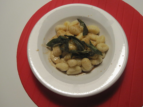 Gnocchi in sage brown butter