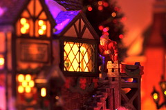 Scrooge and the Ghost of Christmas Past (kevin dooley) Tags: christmas xmas old city light house holiday english window look canon town miniature village ghost sigma scrooge collection explore peek dickens past f28 charlesdickens dept56 department56 previous 105mm dickensian 40d ebinizerscrooge