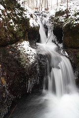 Icicles on the Den burn, Kinpurney Hill. (Shandchem) Tags: scotland hill den burn icicles kinpurney pethkinross