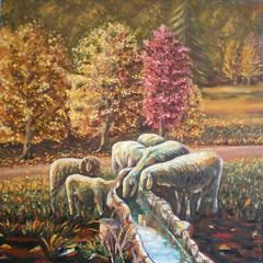 www.lerribaldo.it (lerri) Tags: autumn quadro su autunno sheeps olio pecore pannello baldo lerri