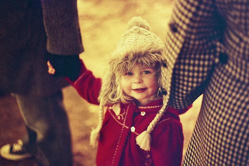 winter hat child evie newyearsday pentaxmx redscale pentaxsmc50mmf14 redscaledfujisuperior400 allisonandjeremy