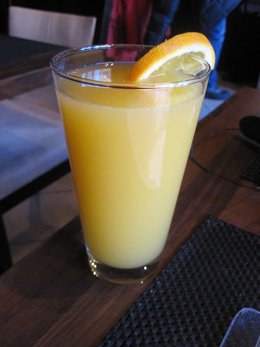 Orange juice at La Cantine