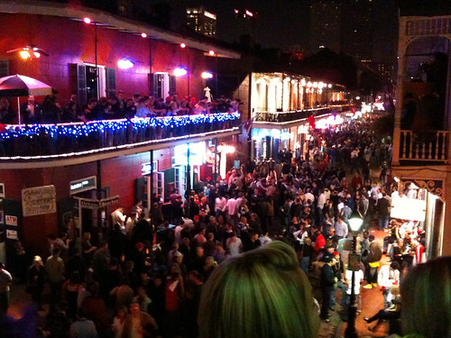 Bourbon Street, New Years Eve.