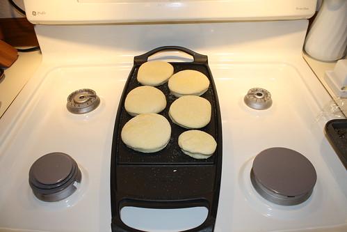 Baking English Muffins