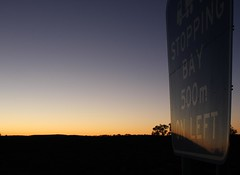 Stopping (pominoz) Tags: sign sunrise nsw brokenhill farwesternnsw