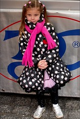 New clothes . (Franc Le Blanc .) Tags: girl rose scarf child candid coat streetphoto marketplace shertogenbosch