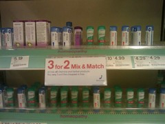 "Homeopathy placebo ""remedies"" at Boots"