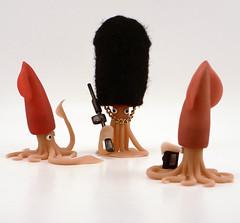 Palace Guard (Articulate Matter) Tags: sculpture art hat costume rude tourists squid tiny tentacles bonvoyage cephalopod articulatematter justinakochansky