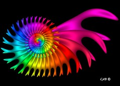 Magic Millipede (antarctica246) Tags: art geometric nature ecology motif digital spiral graphicdesign shiny soft dynamic graphic sandiego originalart unique oneofakind dramatic vivid optical science sharp hires math formula roll fractal educational swirl curl rainbows psychedelic striking visual technicolor millipede wispy multicolor colorscheme nowpublic eyecandy rendered bold digitalimage detailed scavengers feathery chaospro distinctive edgy evocative mathart ecosystems fractalart mathematicalart graphicelement sandiegoartist antarctica246 fractalartist digitaleyecandy upbeathappy visualmotif distinctivemotif visualsignpost artsoul4u technicolorvisions mathmeticalimagery