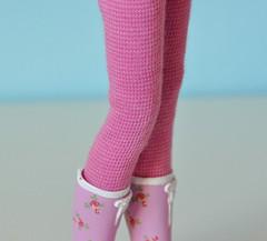 Blythe pink stripes tights
