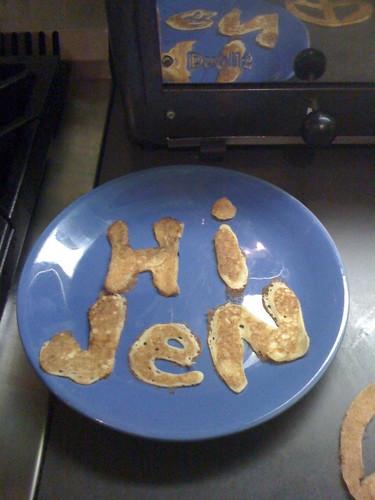 B's pancake bits surprise for me