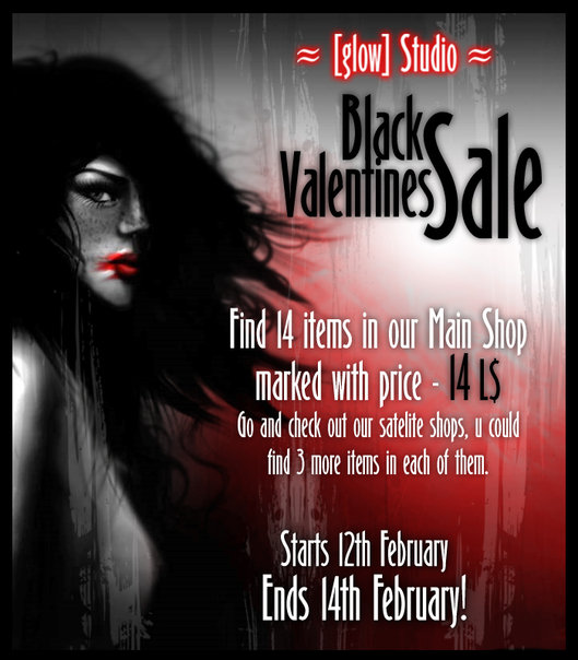 Black velentines sale!!! [ glow ] studio