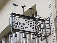 Sign, Willow Tearoom, Glasgow