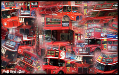 Collection o Routemasters (roll the dice) Tags: pictures uk red colour bus london art heritage history classic buses theatre photos magic transport lewisham victoria hammersmith aldwych montage routemaster oyster doubledecker conductor marblearch leyland rm arriva londonist aec metroline halfcab