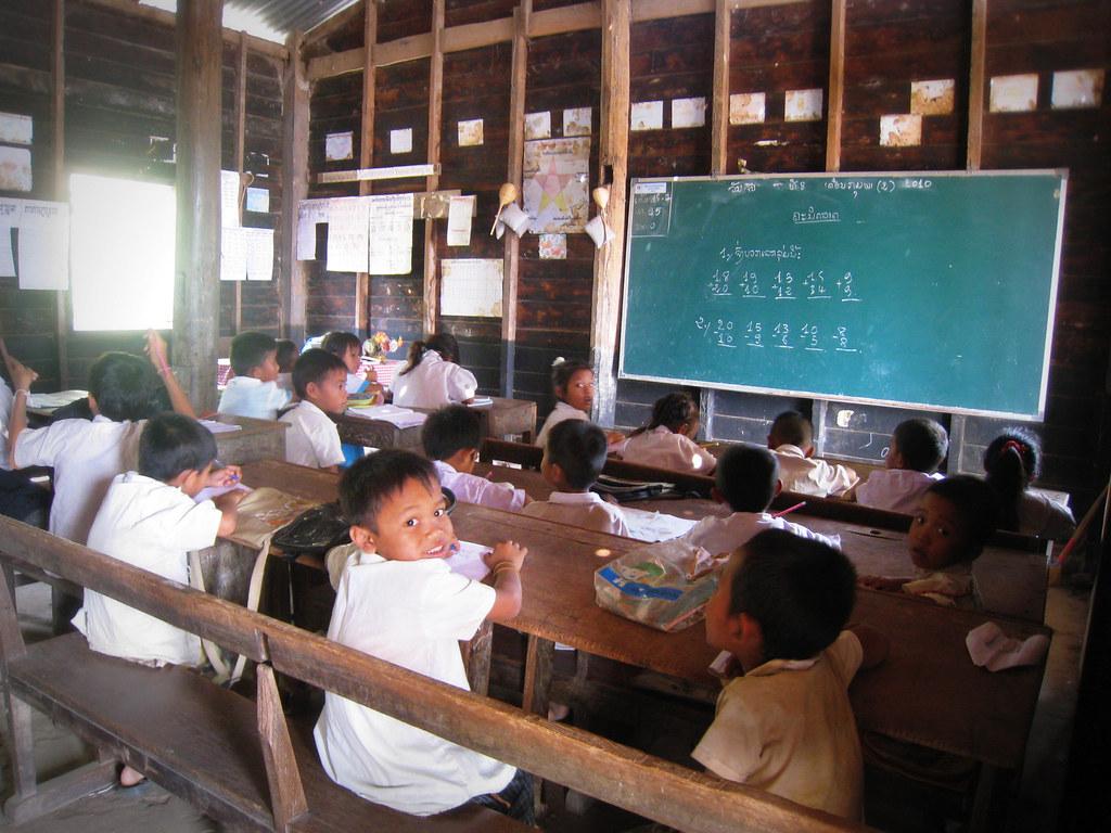 Ecole primaire dans un village de Champassak