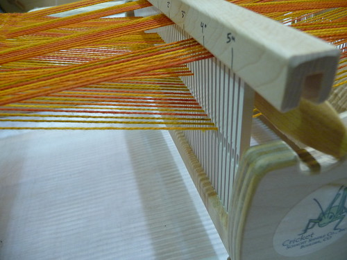 heddle down position