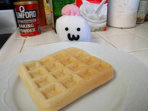 I wuv having waffles for bwekkie.