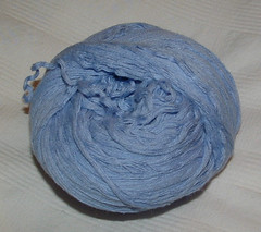 Blue Reclaimed Yarn