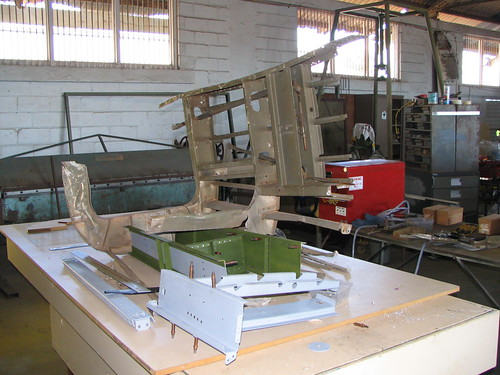 AHSNT B25 Tailcone Under Construction August 2005