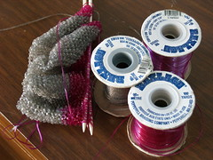 Knitting WIP (reesedixon) Tags: knitting lanyard