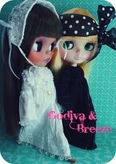 Godiva &Breeze (Teka e Fabi) Tags: doll bonecas dolls blythe custom breeze godiva primadolly tekaefabi heathersky icerune