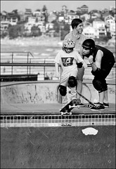 No Fear! (Reto Togni Pogliorini) Tags: portrait bw beach girl bondi kid child skating sydney australia bowl skater bondibeach nofear