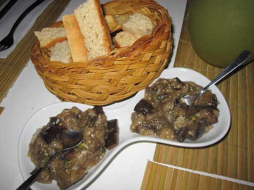 Eggplant and Bread