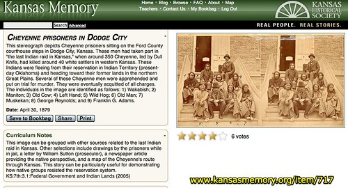 Cheyenne prisoners in Dodge City - Kansas Memory