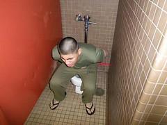 GASLEAK SOLDIER (artarck) Tags: gay toilet marines diarrhea squirts