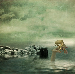 A Man For Atlantis (batabidd) Tags: sea sky abstract clouds photoshop mar hand artistic digitalart creative textures digitalpainting cielo nubes mano octopus dreamy conceptual textured dreamcatcher pulpo graphicmaster batabidd