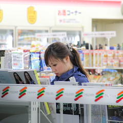 Women Reading 2(EOS 550D's ISO 1600 Test) (Ayanami_No03) Tags: people woman japan tokyo scenery  711 7eleven conveniencestore     eoskissx4 eos550d