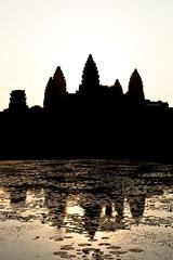 Contre-jour reflet Angkor