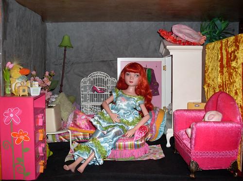 Ma Dollroom Rose OU la maison temporaire de mes Ellowynes 4457471713_b310554f06