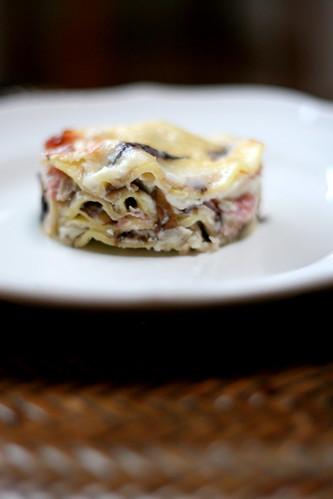 Lasagne con Radicchio e Prosciutto
