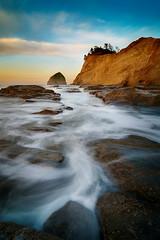 A Good Morning (Nathaniel Reinhart) Tags: ocean longexposure sea cliff seascape oregon landscape coast sandstone rocks pacific tide shore oregoncoast nathaniel haystackrock tidepool seastack pacificcity capekiwanda reinhart nathanielreinhart