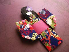 Japanese Origami Doll - Tsubaki (umeorigami) Tags: pink paper origami purple yukata kimono etsy paperdoll washi chiyogami origamidoll chiyogamidoll zibbet