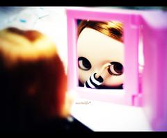 Me, peeping through the mirror