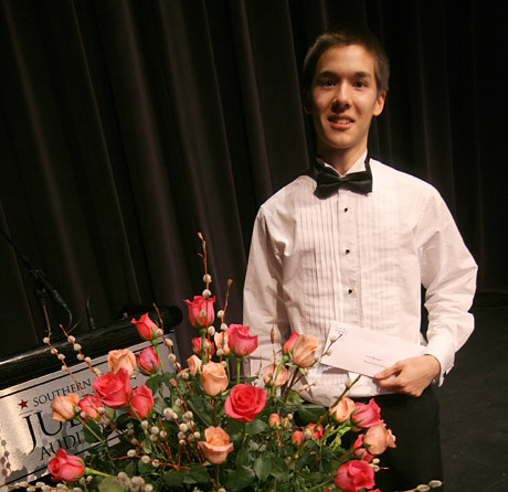 Scott MacIsaac, winner of the Kiwanis Music Festival Rose Bowl in Calgary,