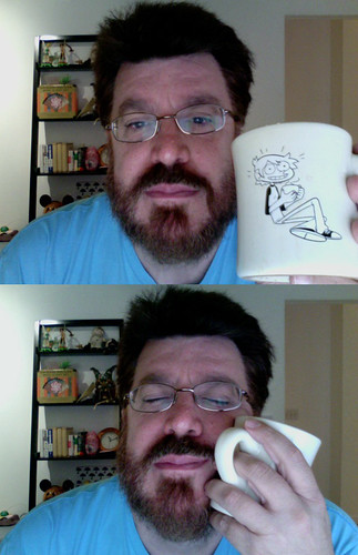 Oddly enough I took a picture with my tea mug ...