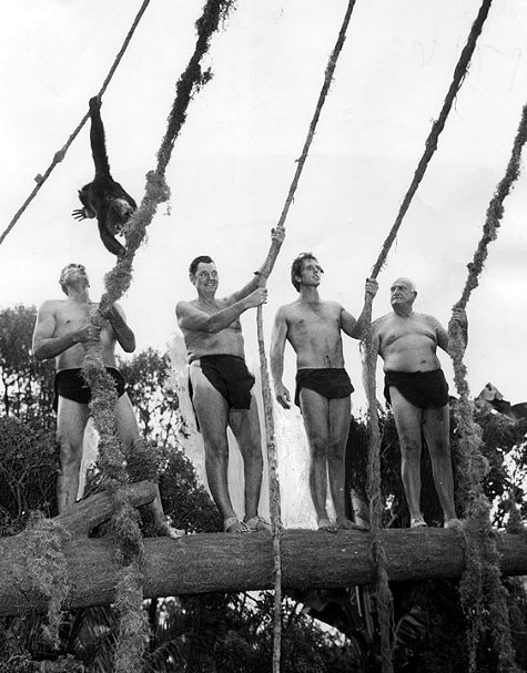 Jock Mahoney, Johnny Weissmuller, Ron Ely and James Pierce