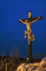 Mercy, Jesus! (grindlock) Tags: pecs nikon cross body jesus sigma d200 tvtower crucifixion tettye f2845