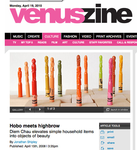 Interview on Venuszine