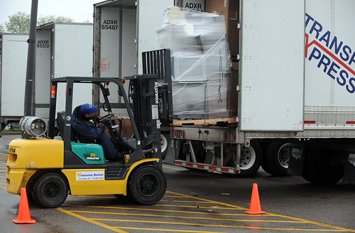 drove michigan forced jobs leave forklift loading semi
