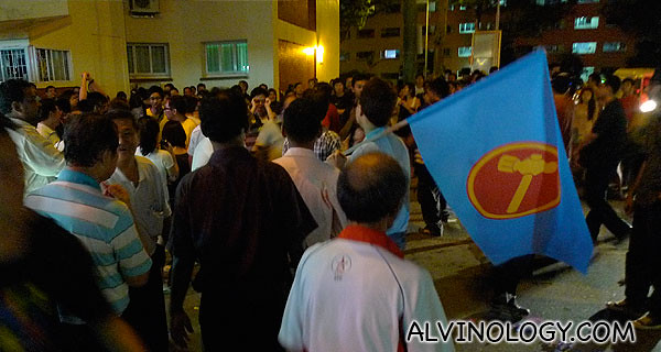 Opposition Unity: WP and NSP members came to cheer the SPP team - the crowd responded by cheering them thunderously
