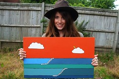 (Maddie Joyce) Tags: ocean portrait art me painting for maddie surf waves colours sale surfing joyce